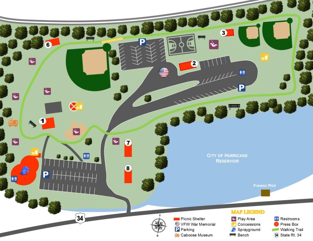 City Park Map on